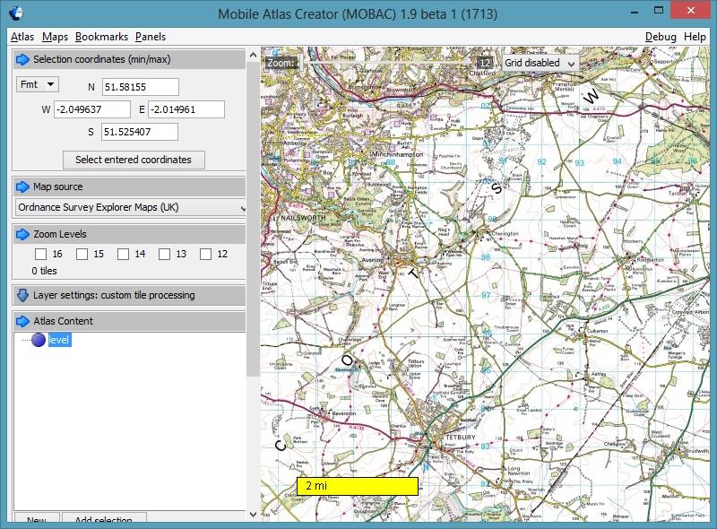 Custom raster maps for the Magellan eXplorist 710 | Pete's ponderings